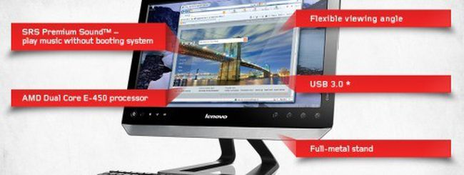 Lenovo C325: PC all-in-one multitouch da 20 pollici