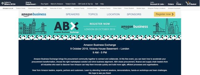 Amazon Business annuncia Amazon Business Exchange