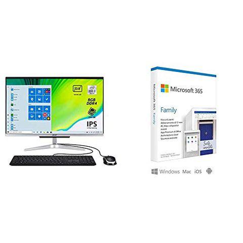 Acer Aspire C24-963 Computer Fisso All in One (con Microsoft 365 Family)