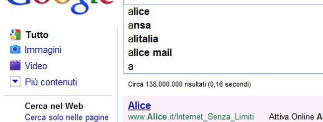 Google, Instant non riscuote successo