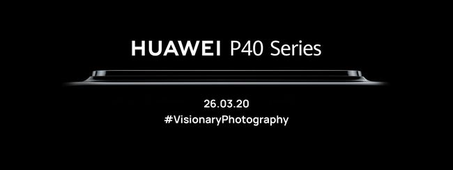 Huawei P40 Series, evento in streaming il 26 marzo