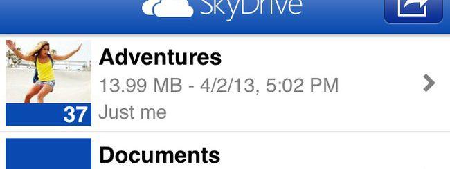 SkyDrive 3.0 per iOS supporta iPhone 5 e iPad Mini