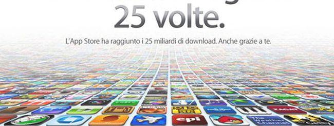 App Store raggiunge i 25 miliardi di download