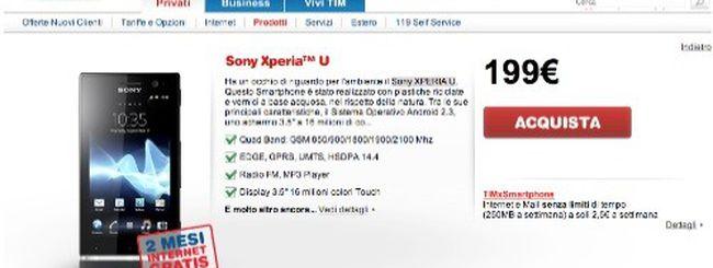 Sony XPERIA U arriva nel listino TIM