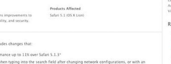 Apple rilascia Safari 5.1.4