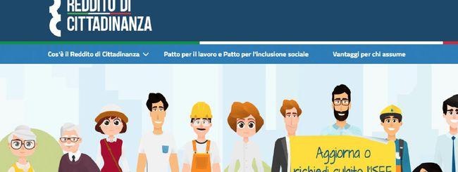Reddito di cittadinanza, online il sito web