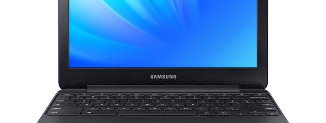 Samsung Chromebook 3, telaio in magnesio e Chrome OS