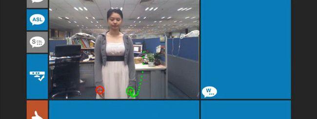 Kinect interpreta la lingua dei segni