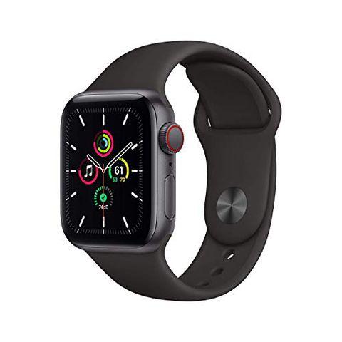Apple Watch SE (GPS + Cellular, 40 mm) Cassa in alluminio grigio siderale con Cinturino Sport nero
