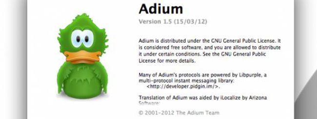 Adium versione 1.5: il client chat open source è in declino?