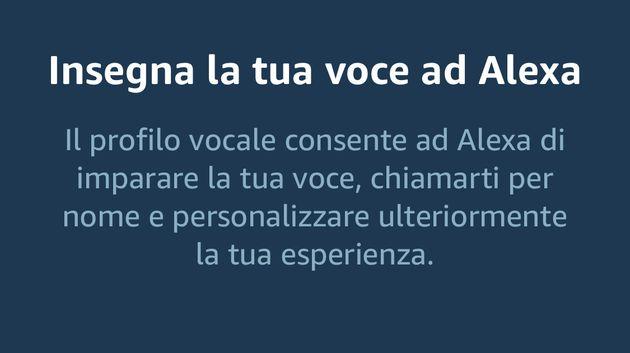 Alexa Profilo Vocale