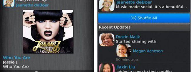 Debutta BlackBerry Music per ascoltare e condividere brani