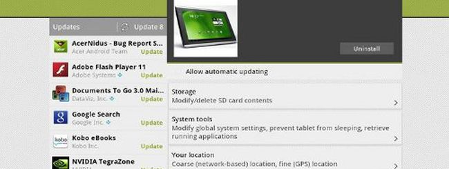 Acer Iconia Tab A500, app per installare Android 4.0