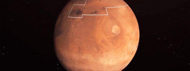 NASA, la mappa dell'acqua ghiacciata su Marte