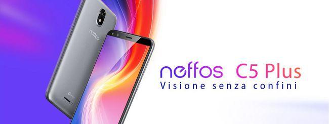 Neffos C5 Plus, economico con Android Go