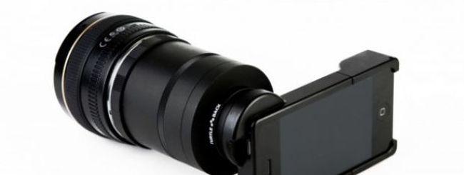L'adattatore che trasforma un iPhone in una Reflex
