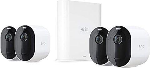Arlo Pro3, Sistema di Videosorveglianza Wi-Fi con 4 Telecamere 2K HDR