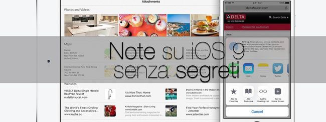 iOS 9, tutti i segreti dell'app Note: disegni, foto e elenchi