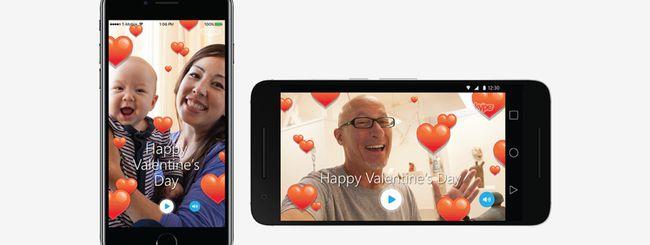 Skype: Mojis, emoji e filtri per San Valentino