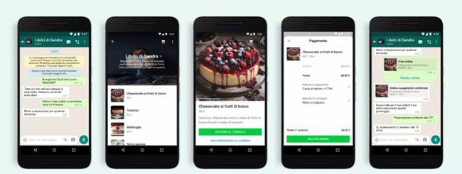 WhatsApp ora permette di fare acquisti dalle chat