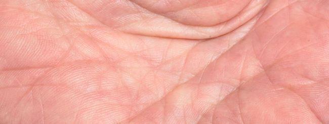 Scansione della mano per ricordare la password
