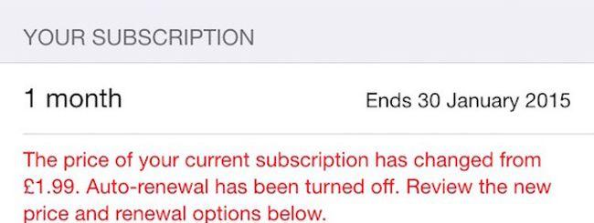 iTunes Store, Apple disabilita gli abbonamenti dopo l'aumento dei prezzi