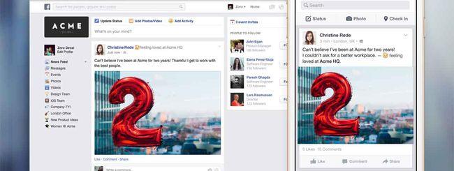 Facebook@Work, il social network per l'ufficio