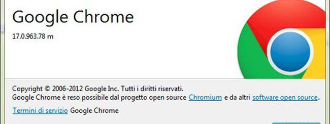 Chrome, versione 17.0.963.78 dopo il Pwn2Own