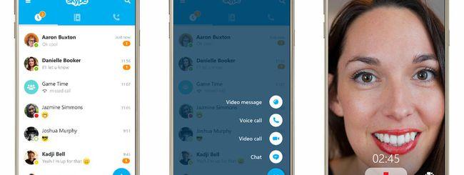 Skype 6.0 per Android e iOS, nuovo design