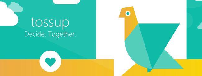 Microsoft Tossup organizza le cene con gli amici