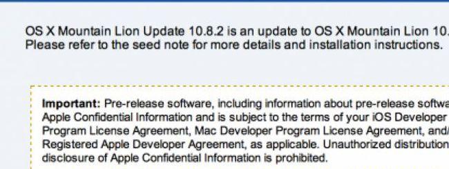 Ancora una build di OS X 10.8.2: ci siamo quasi
