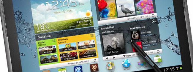 Samsung Galaxy Tab 2 e Galaxy Note 10.1 con CPU quad core