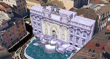 Fontana di Trevi in 3D su Google Earth