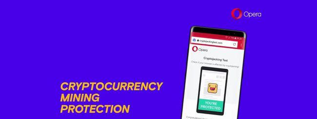 Protezione anti-Bitcoin anche in Opera per Android