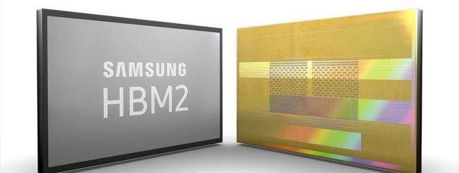 Samsung aumenta la produzione della HBM2 da 8 GB