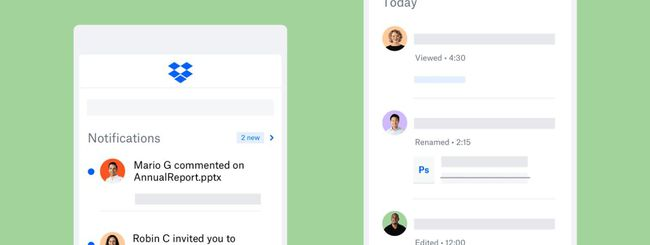 Dropbox aggiorna le app iOS e Android