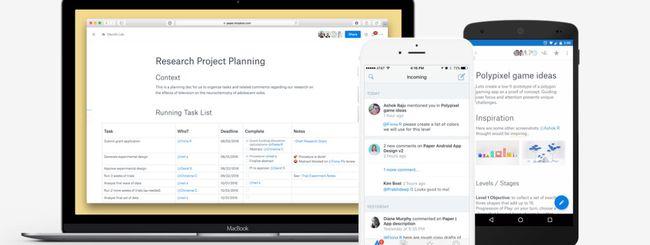 Dropbox Paper in versione beta anche su smartphone