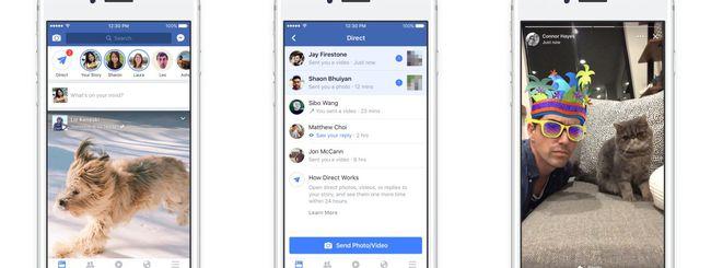 Facebook lancia le Storie su iOS e Android