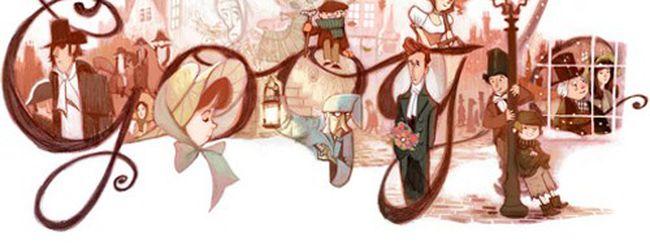 Charles Dickens, un doodle per i 200 anni