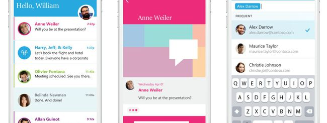 Microsoft Send per iOS, email come messaggi