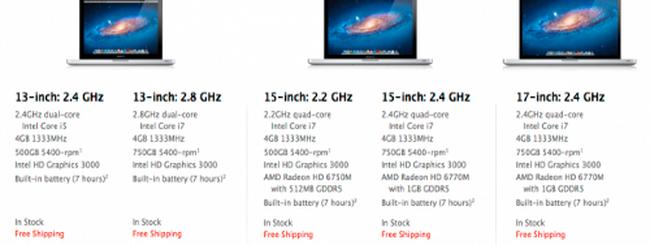 MacBook Pro aggiornati, invariati i prezzi