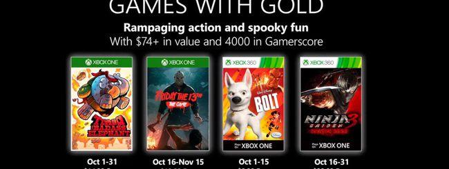 Microsoft svela i Games with Gold di ottobre 2019