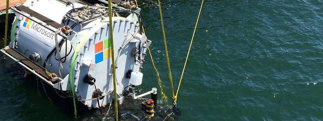 Microsoft sperimenta i data center subacquei
