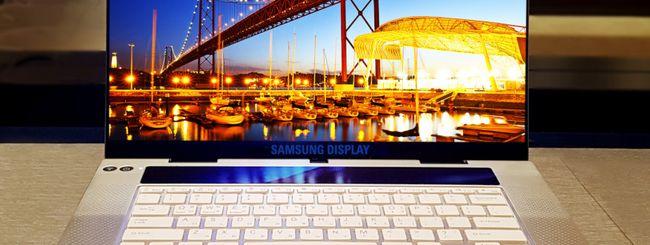 Samsung, pannello OLED UHD da 15,6 pollici per notebook