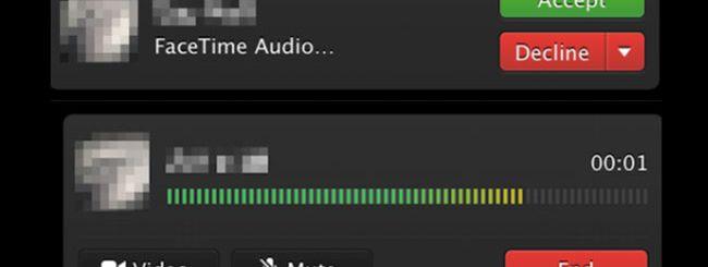FaceTime Audio presto in OS X Mavericks