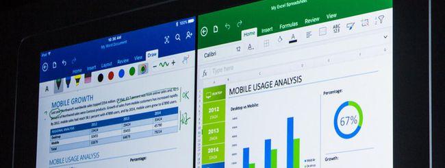 Microsoft Office, le novità per iPad Pro e iOS 9
