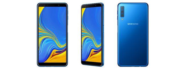 Samsung Galaxy A7, tre fotocamere posteriori