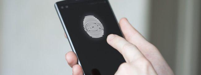 LG mette il lettore di impronte sotto lo schermo