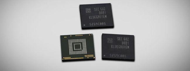 Samsung annuncia la prima memoria flash da 256 GB