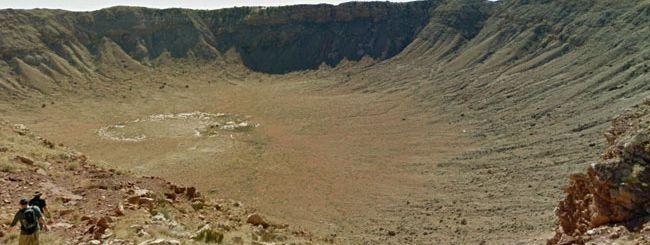Street View nel cratere meteoritico dell'Arizona